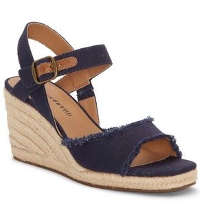 Lucky Brand | Mindra Navy Espadrille Wedge Sandals